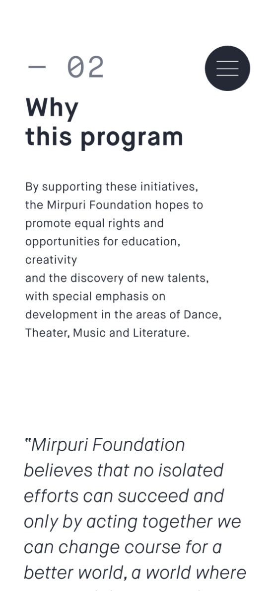 Mirpuri Foundation Mobile Image